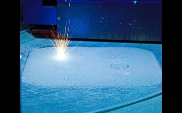 Selective laser melting (SLM) process in action