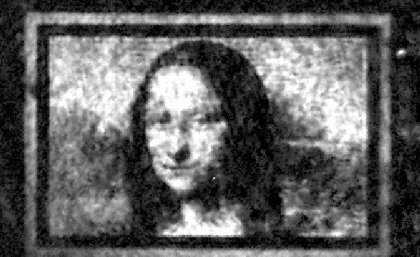 The researchers' rendition of the famous Mona Lisa, approximately 100 microns wide