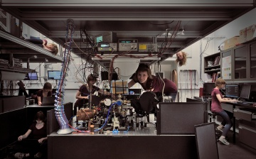 A day in the lab. Image by Virginia Frey